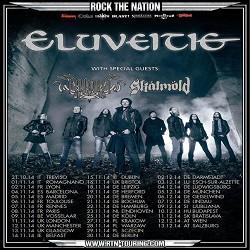 Eluveitie (+ Arkona et Skálmöld) au Trabendo (08.11.2014)