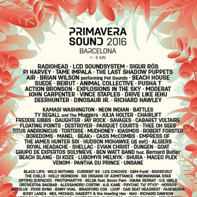 Primavera Sound 2016 – Barcelone – 1-5/06/2016