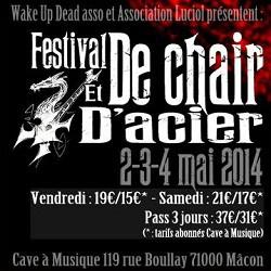 Festival de Chair et d'Acier le 2 et 3 mai 2014 avec Arkona et Vildhjarta