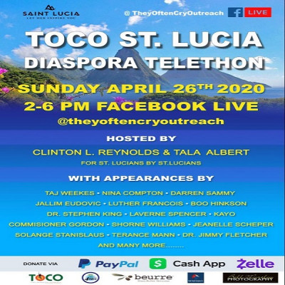 Diaspora Telethon – TOCO -Taj Weekes & St Lucie'artists