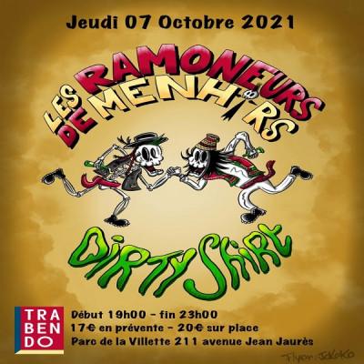 Dirty Shirt et les Ramoneurs de Menhir en concert à Paris