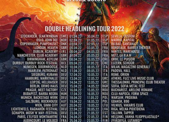 Affiche de la tournée d'Ensiferum et Dark Tranquility