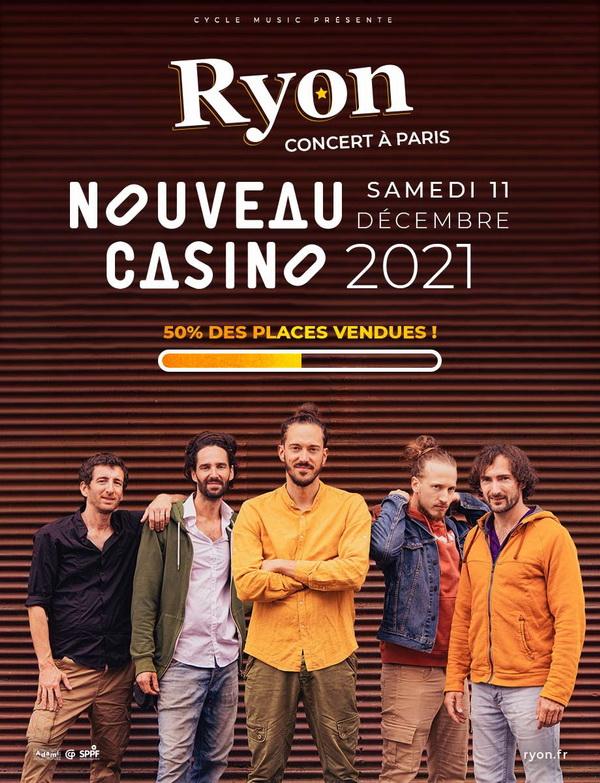 Ryon au Nouveau Casino Paris le 11 décembre 2021